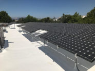 solar panel and spray foam roof