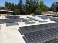 solar panels on flat roof