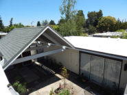 peaked and flat roof