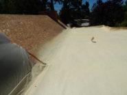 flat spray foam roofing